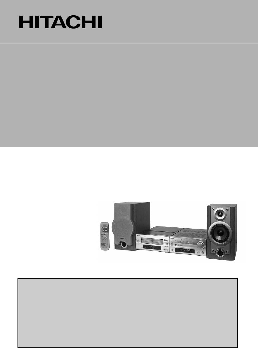 bedienungsanleitung hitachi axf300w seite 1 von 120 d nisch deutsch englisch spanisch. Black Bedroom Furniture Sets. Home Design Ideas