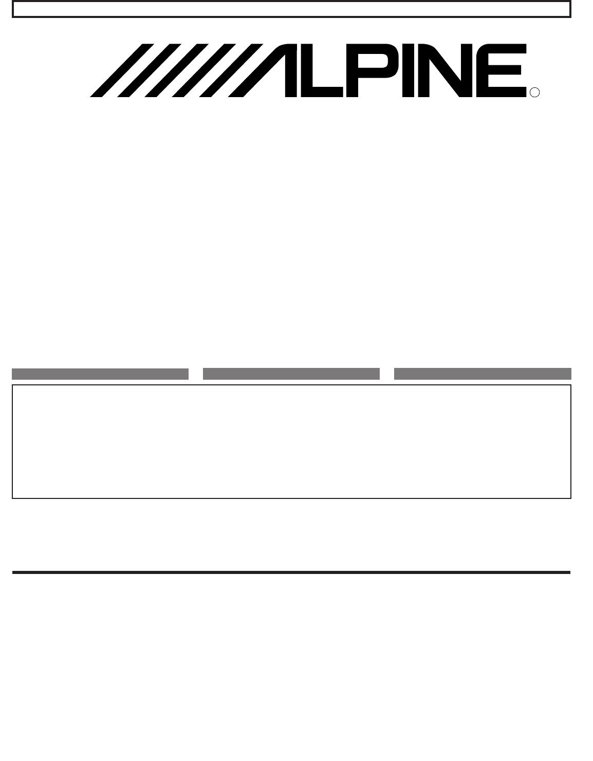 Benungsanleitung Alpine MRP-F250 (Seite 1 von 20 ... on