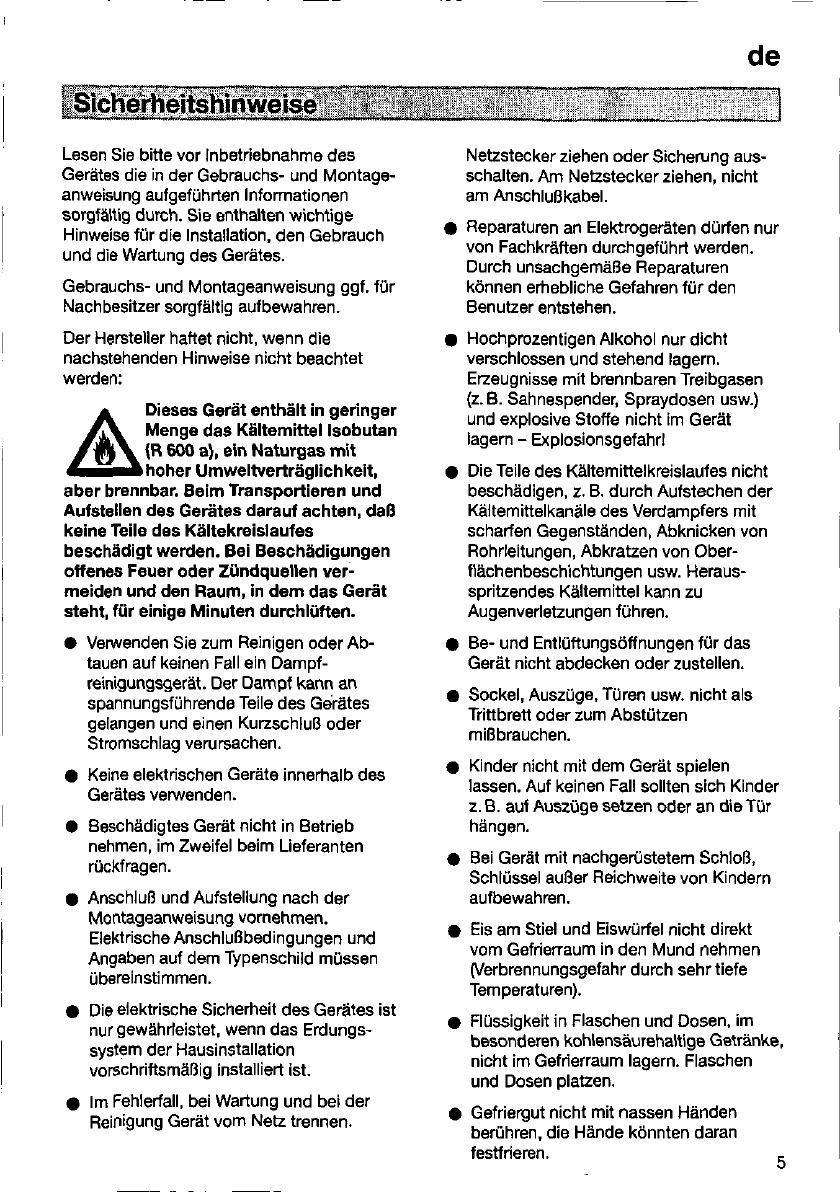 Bedienungsanleitung Siemens KS 20V320 (Seite 5 von 102) (Deutsch ...