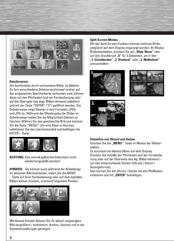 Bedienungsanleitung Hama 90923 digital photo frame weather station ...