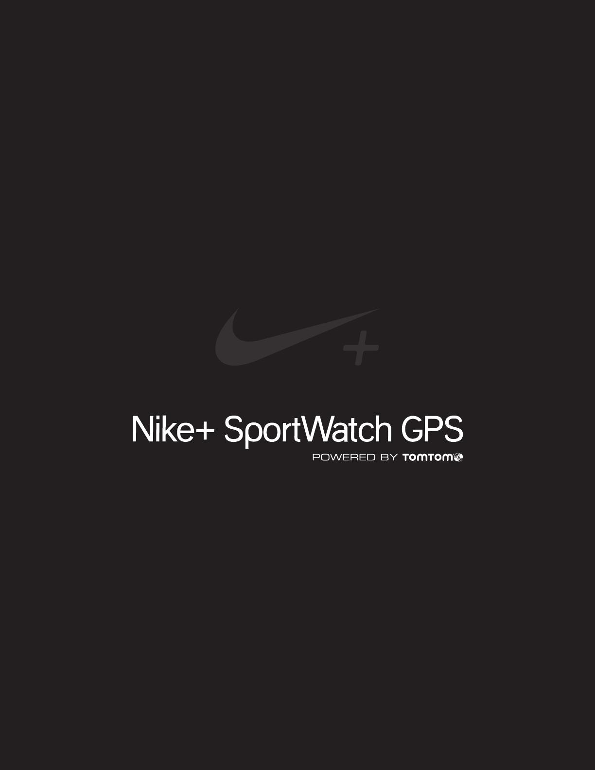 Be nungsanleitung TomTom Nike SportWatch GPS Seite 1 von 42