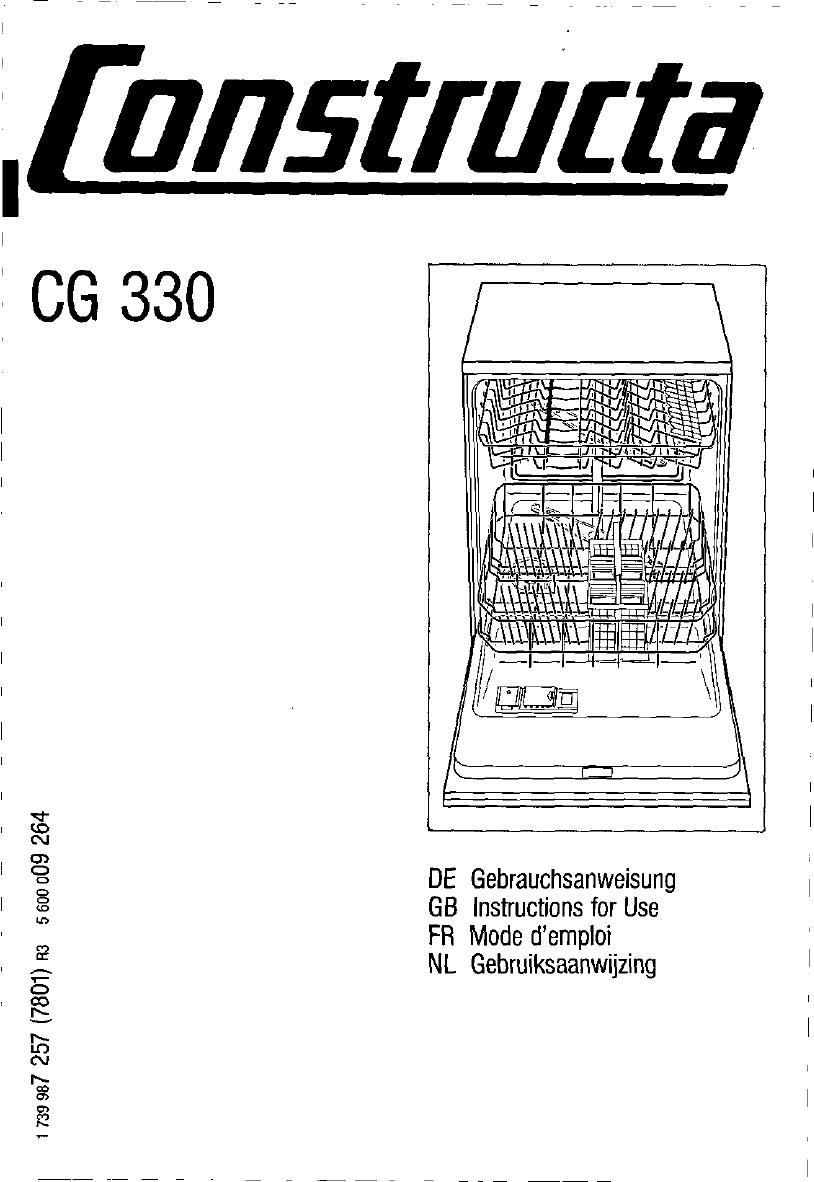 bedienungsanleitung constructa cg330j5 seite 1 von 89. Black Bedroom Furniture Sets. Home Design Ideas