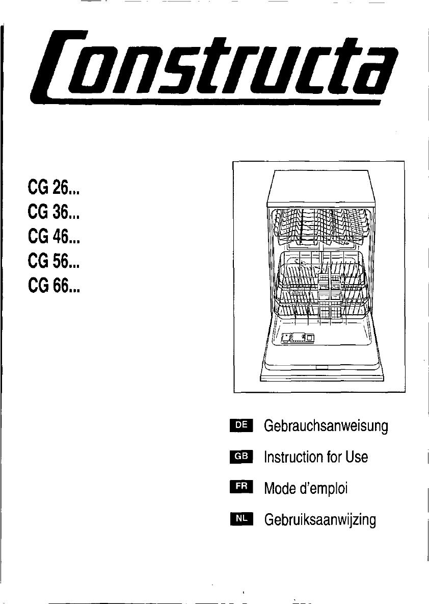 geschirrsp lmaschine constructa bedienungsanleitung m bel design idee f r sie. Black Bedroom Furniture Sets. Home Design Ideas