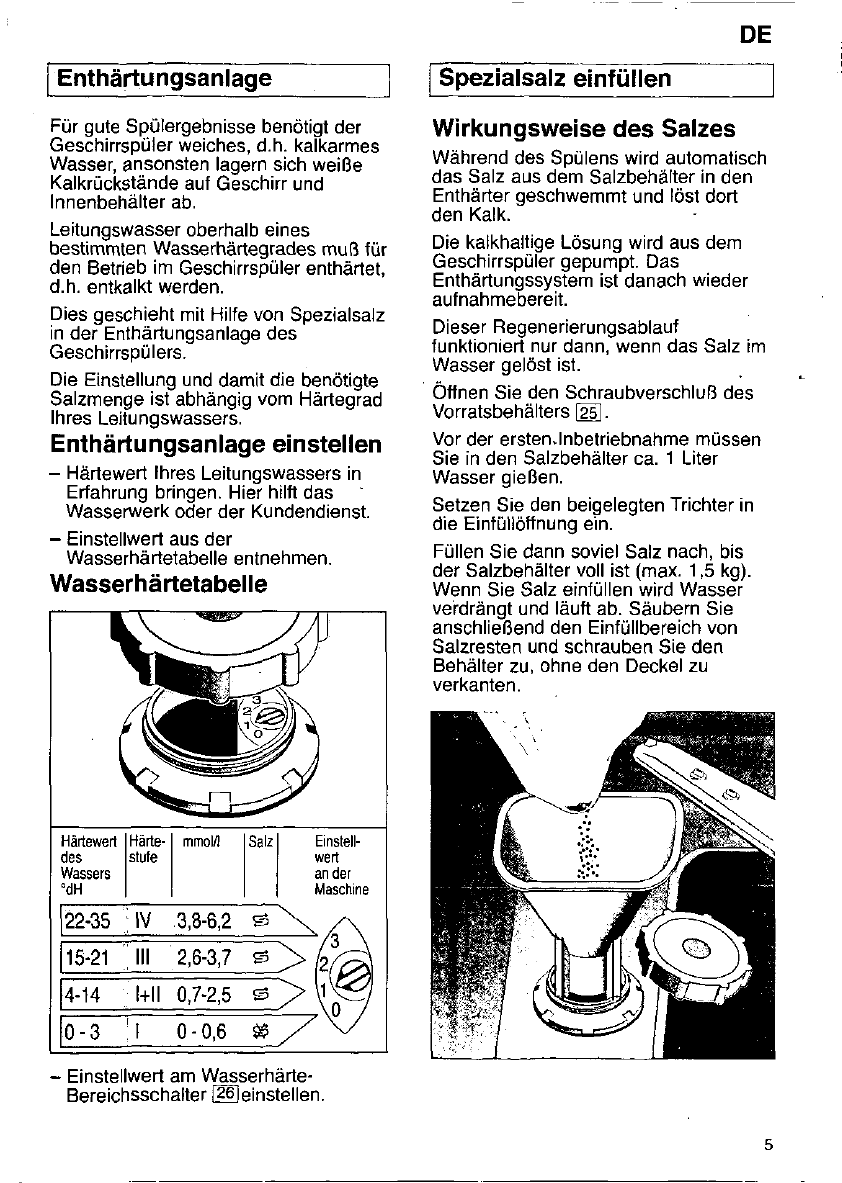 bedienungsanleitung constructa cg 26 (seite 4 von 97  ~ Geschirrspülmaschine Constructa