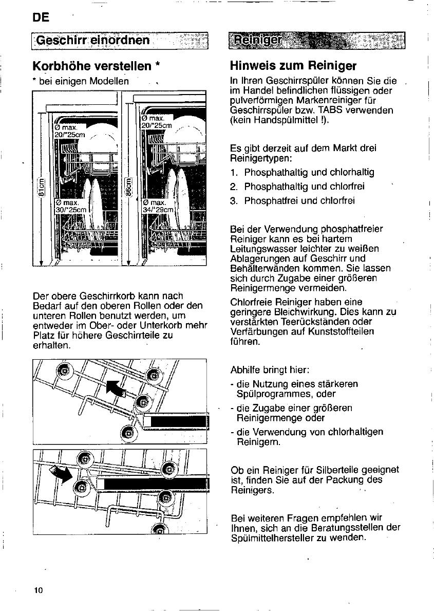 bedienungsanleitung constructa cg 26 seite 9 von 97 deutsch englisch franz sisch. Black Bedroom Furniture Sets. Home Design Ideas
