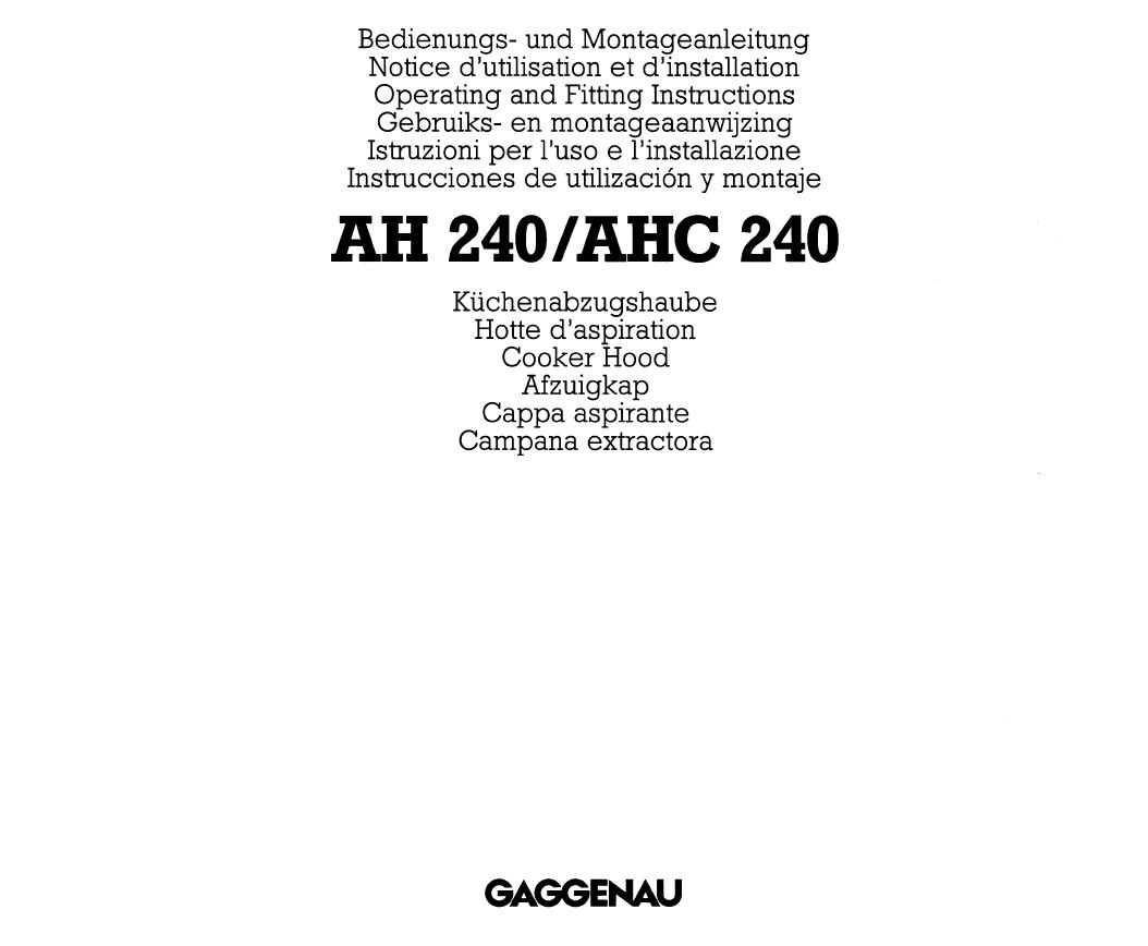 Gaggenau Dunstabzugshaube Ah 250-160 2021