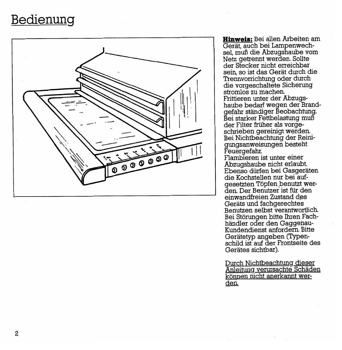 Bedienungsanleitung Gaggenau AH250161 (Seite 4 von 12) (Deutsch)
