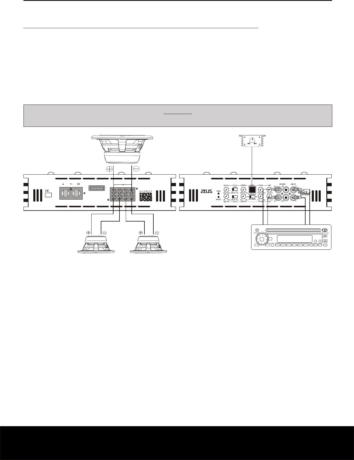 Bedienungsanleitung Hifonics Zxi 4400 Seite 10 Von 24 Deutsch Amp Wiring Diagram Englisch