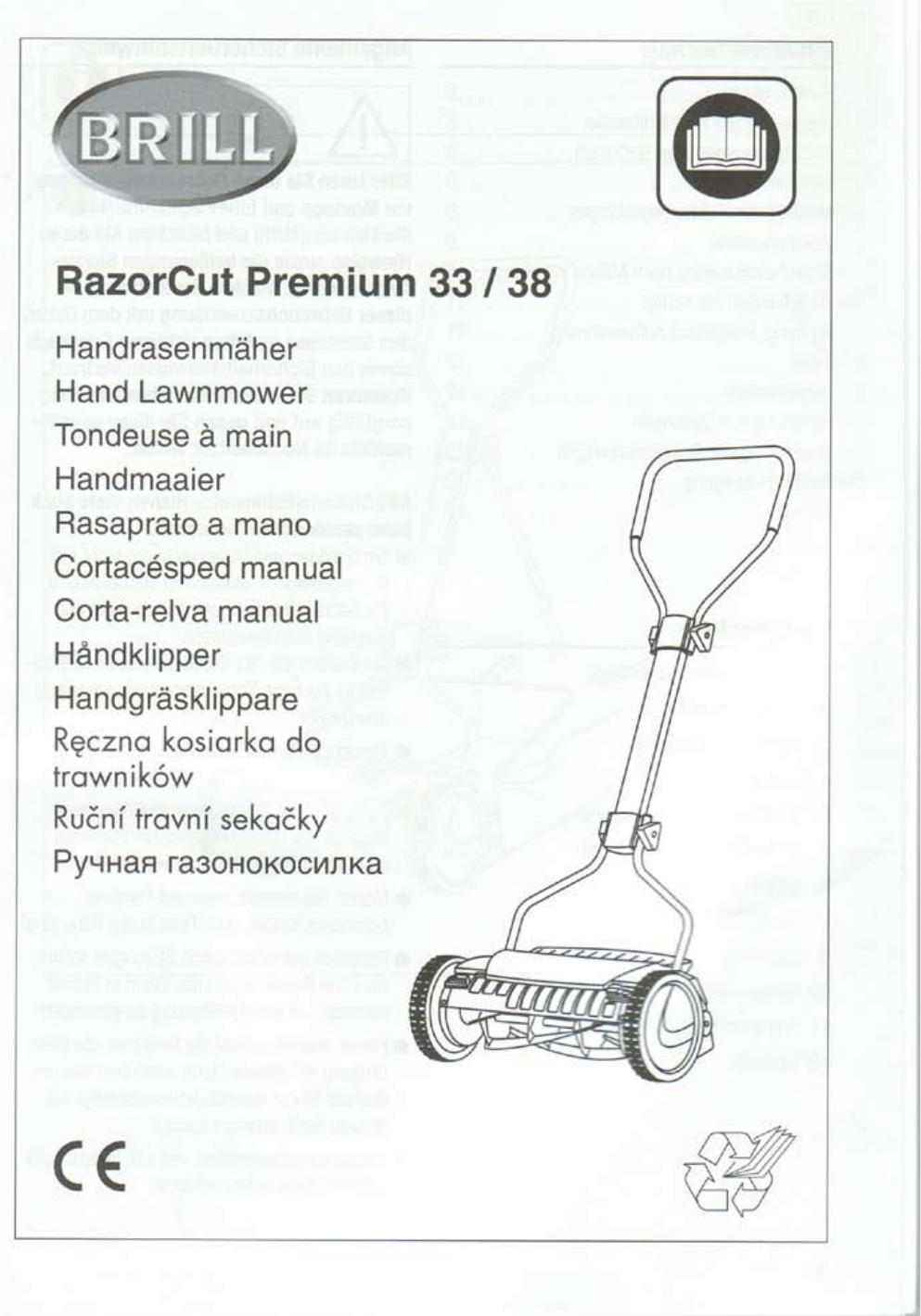 Brill Rasenmäher Bedienungsanleitung : bedienungsanleitung brill razorcut 38 seite 1 von 11 ~ Watch28wear.com Haus und Dekorationen