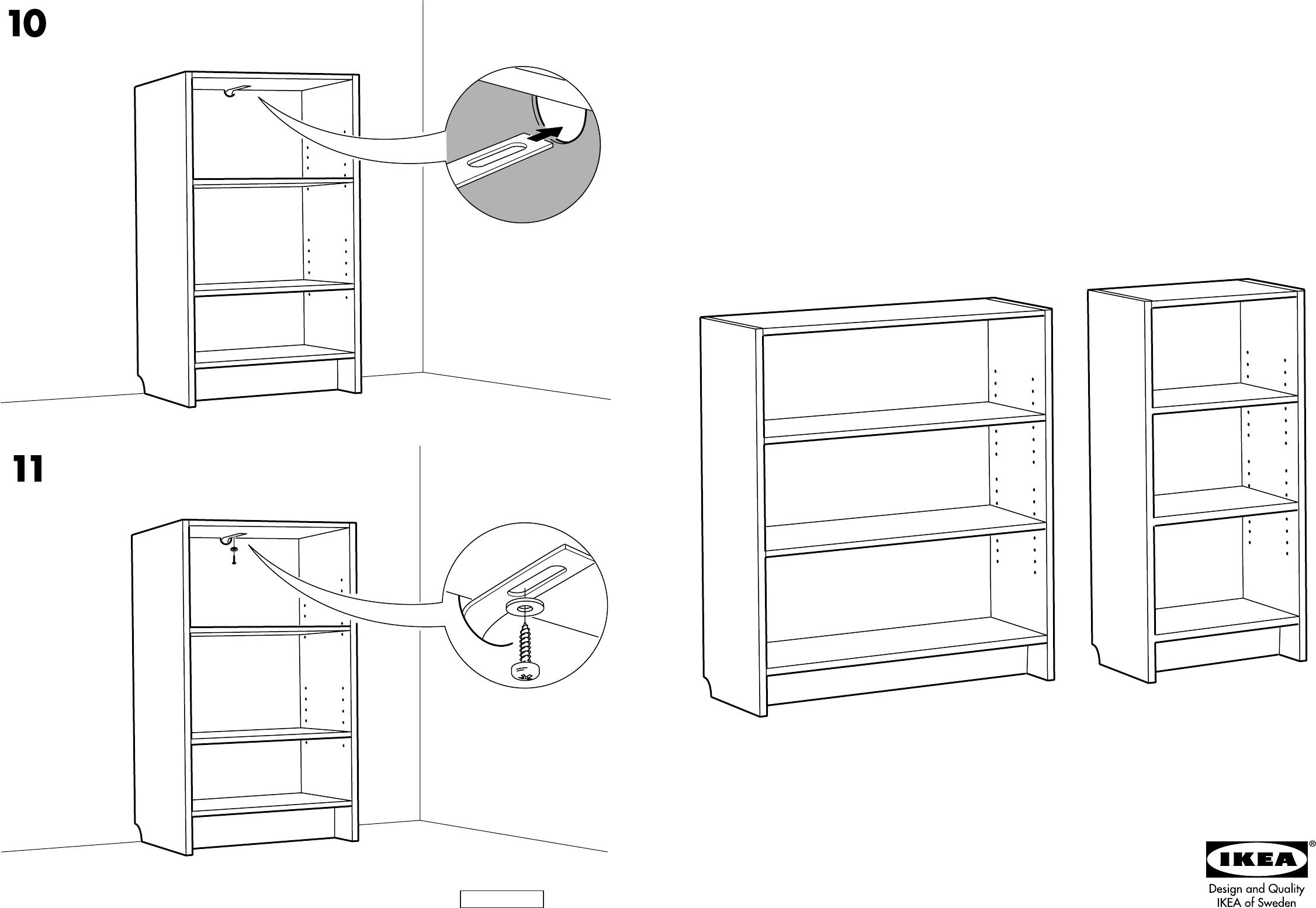 Bedienungsanleitung Ikea Billy boekenkast (Seite 1 von 4) (Dänisch ...