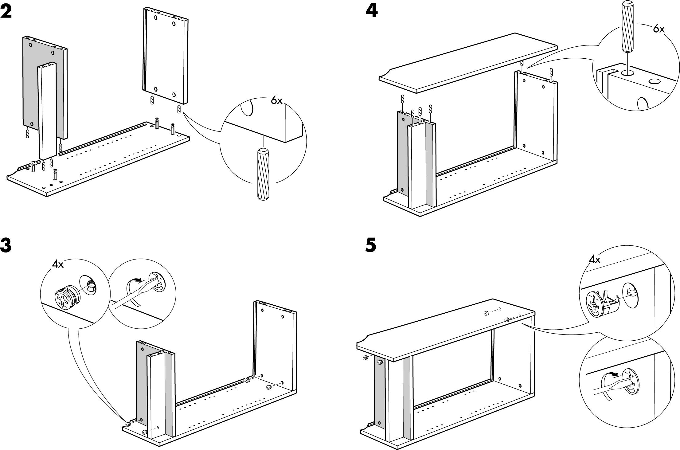 bedienungsanleitung ikea billy boekenkast seite 4 von 4 d nisch deutsch englisch spanisch. Black Bedroom Furniture Sets. Home Design Ideas