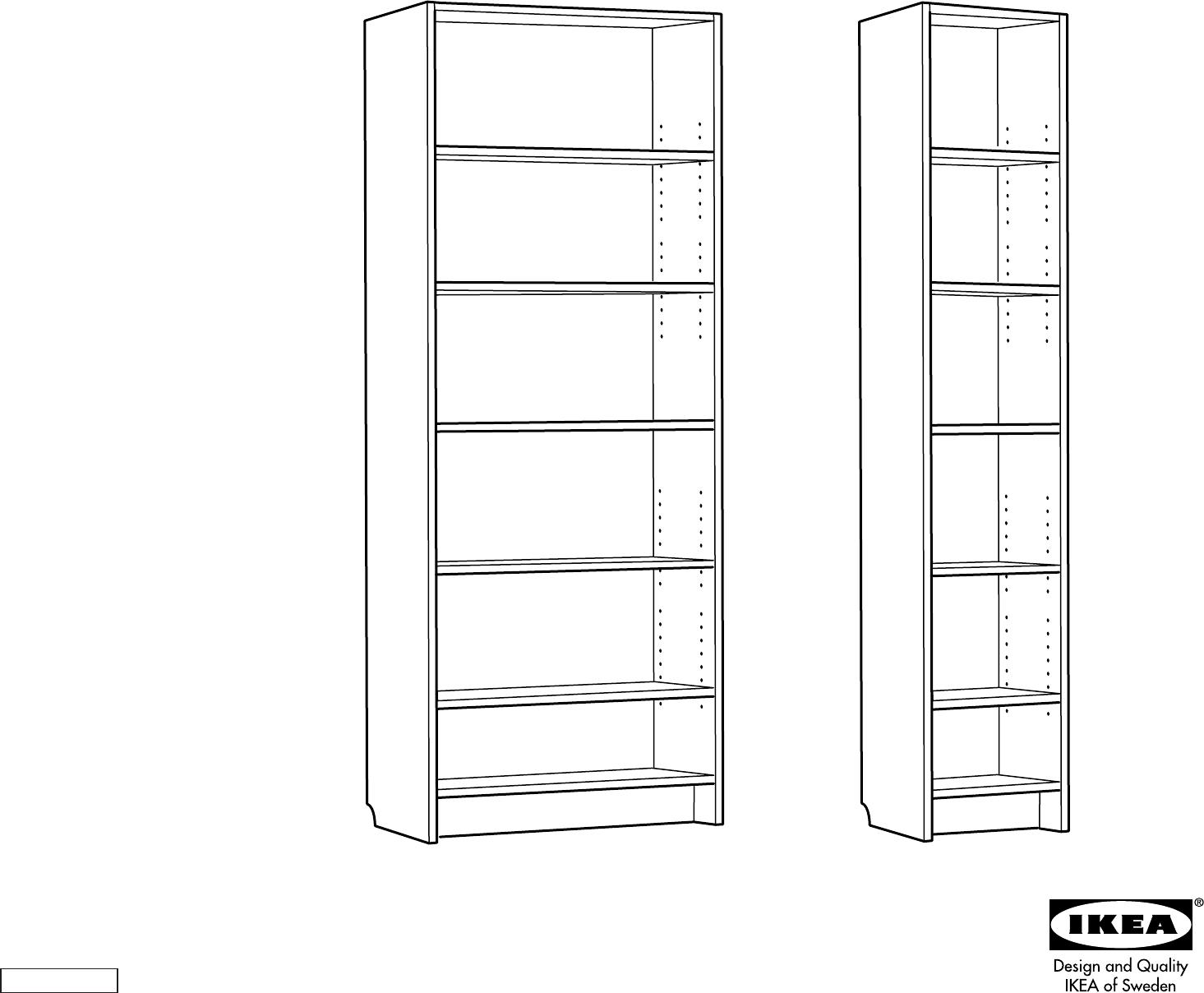 Bedienungsanleitung Ikea Billy boekenkast 2 (Seite 1 von 8) (Dänisch ...