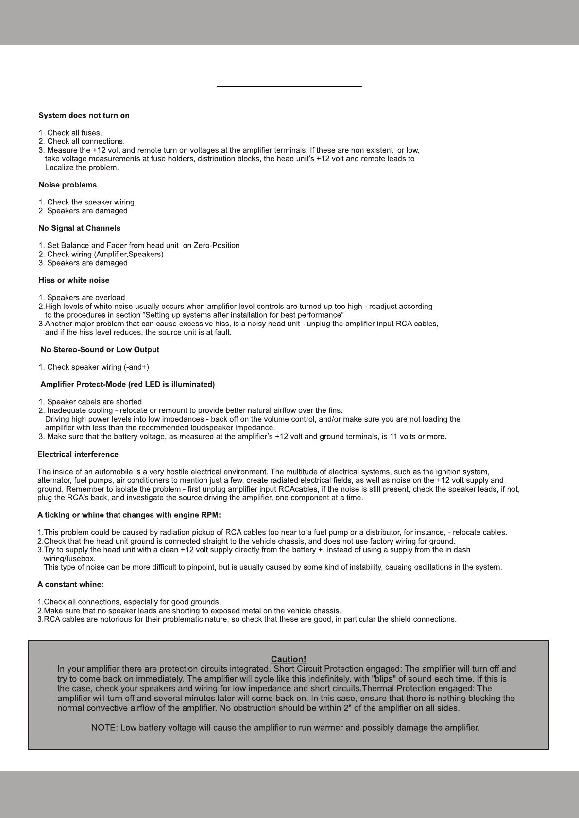 Bedienungsanleitung Crunch Gtr 5502 Seite 21 Von 24 Deutsch Wiring Amp To Speakers 22