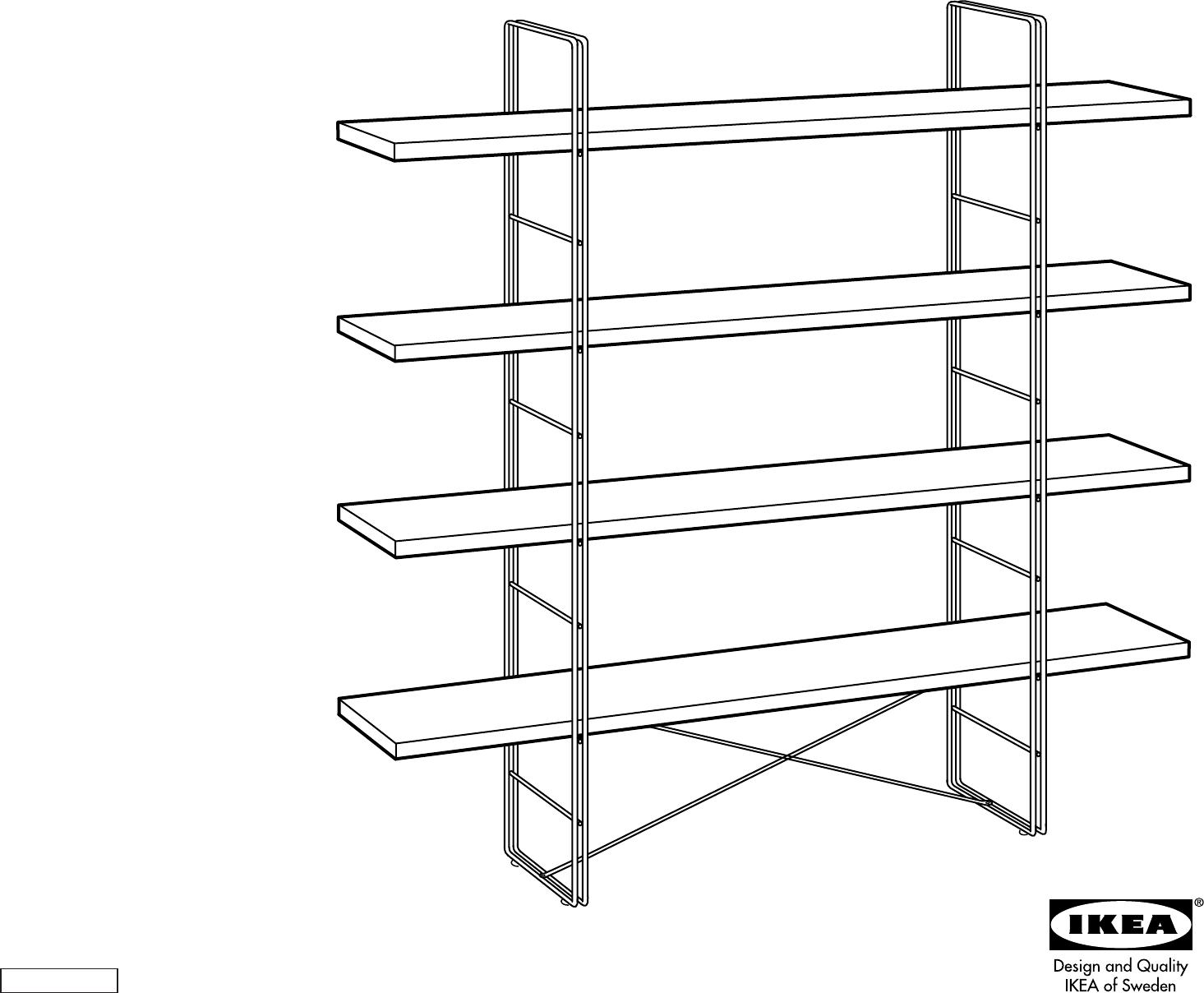 bedienungsanleitung ikea enetri open kast seite 1 von 4 d nisch deutsch englisch spanisch. Black Bedroom Furniture Sets. Home Design Ideas