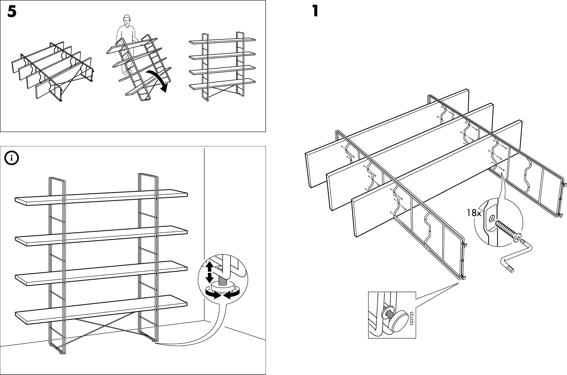 bedienungsanleitung ikea enetri open kast seite 3 von 4 d nisch deutsch englisch spanisch. Black Bedroom Furniture Sets. Home Design Ideas
