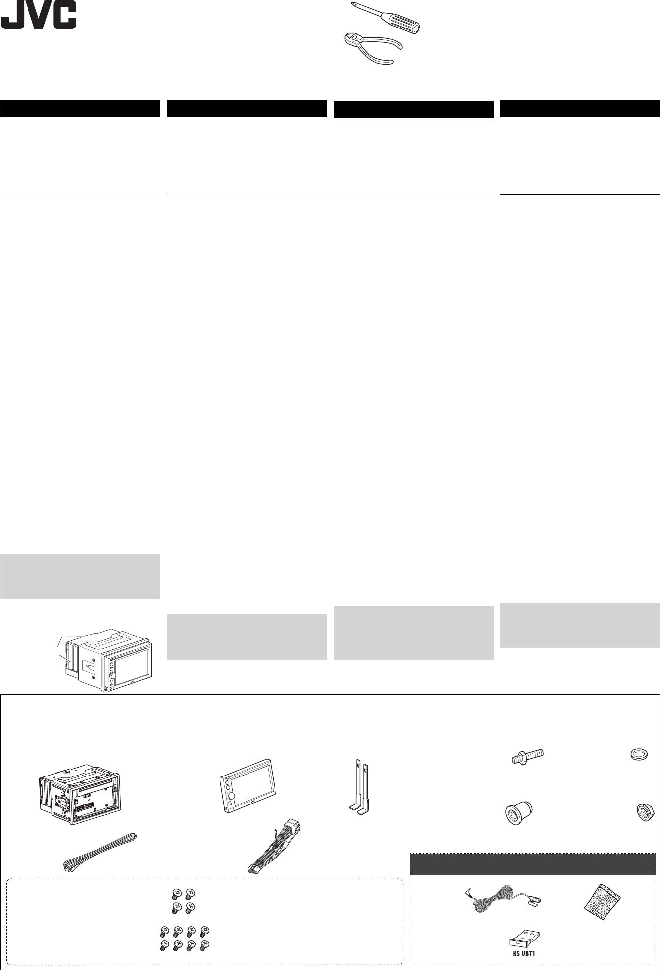 bedienungsanleitung jvc kw av61bt seite 1 von 6 deutsch. Black Bedroom Furniture Sets. Home Design Ideas