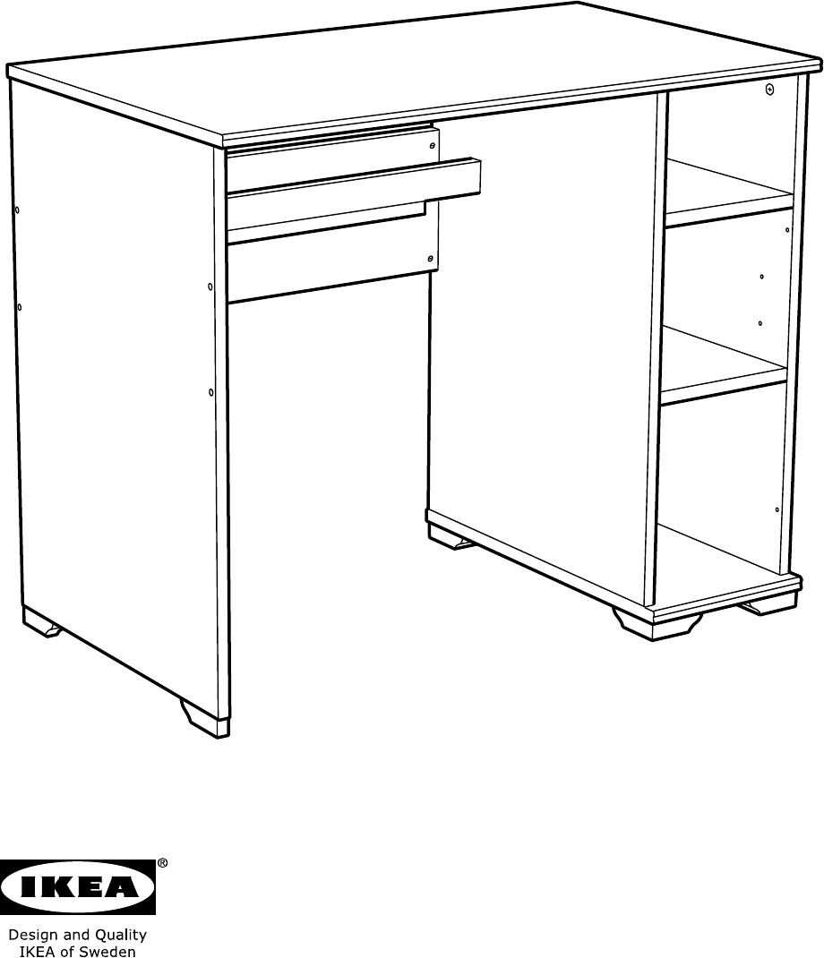 bedienungsanleitung ikea borgsjo bureau seite 1 von 24 d nisch deutsch englisch spanisch. Black Bedroom Furniture Sets. Home Design Ideas