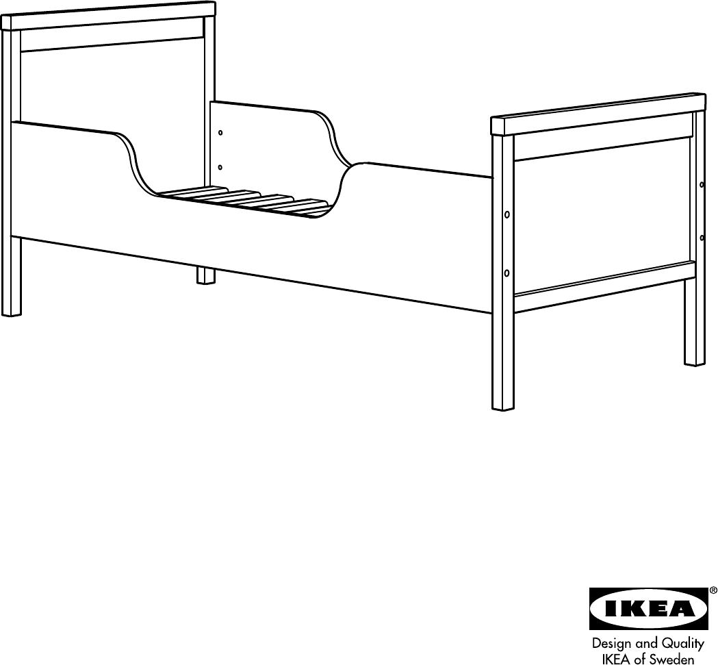 bedienungsanleitung ikea sundvik kinderbed seite 1 von 8 d nisch deutsch englisch spanisch. Black Bedroom Furniture Sets. Home Design Ideas