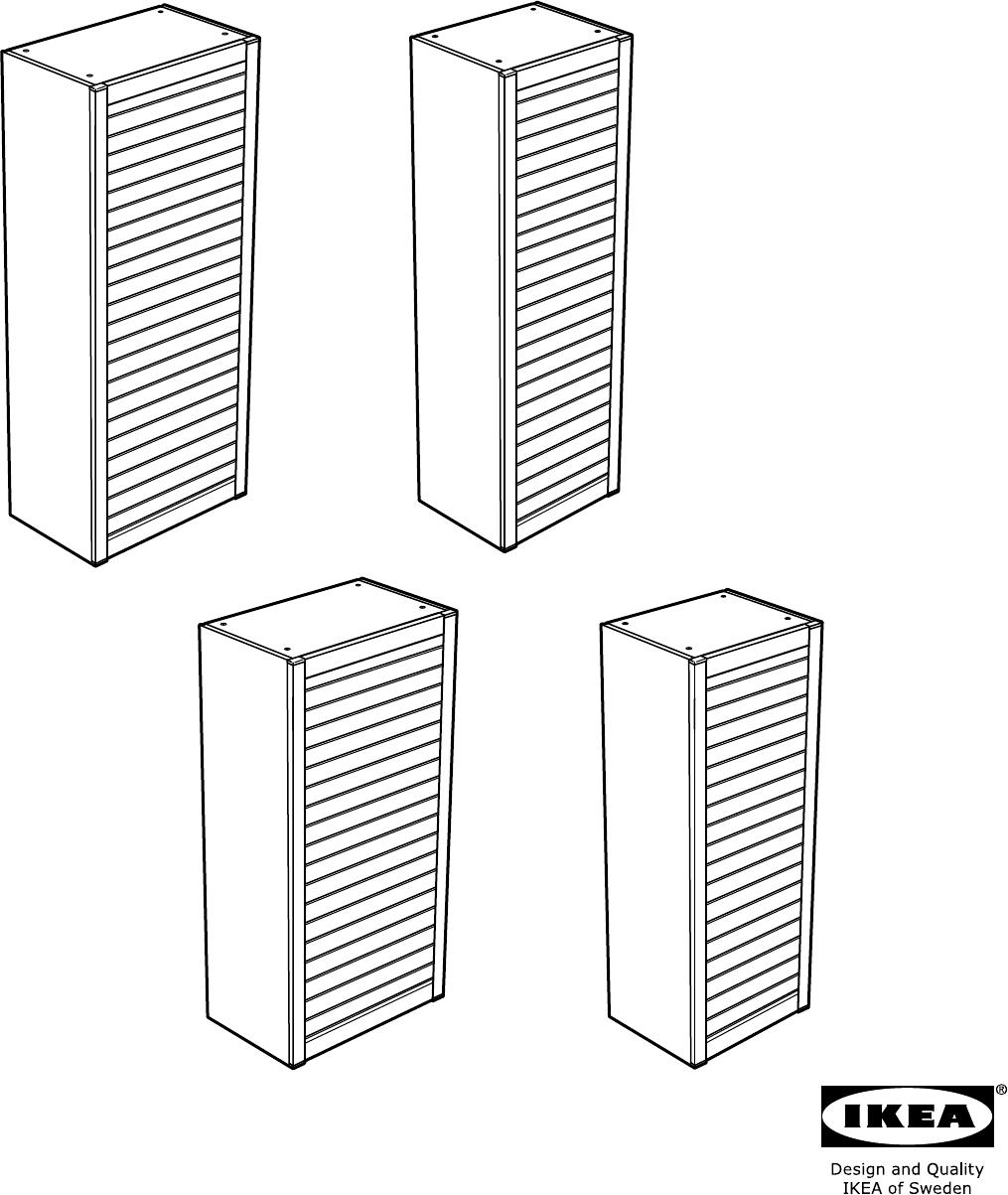 Jalousieschrank ikea  Bedienungsanleitung Ikea AVSIKT Rolluikkast (Seite 1 von 36 ...