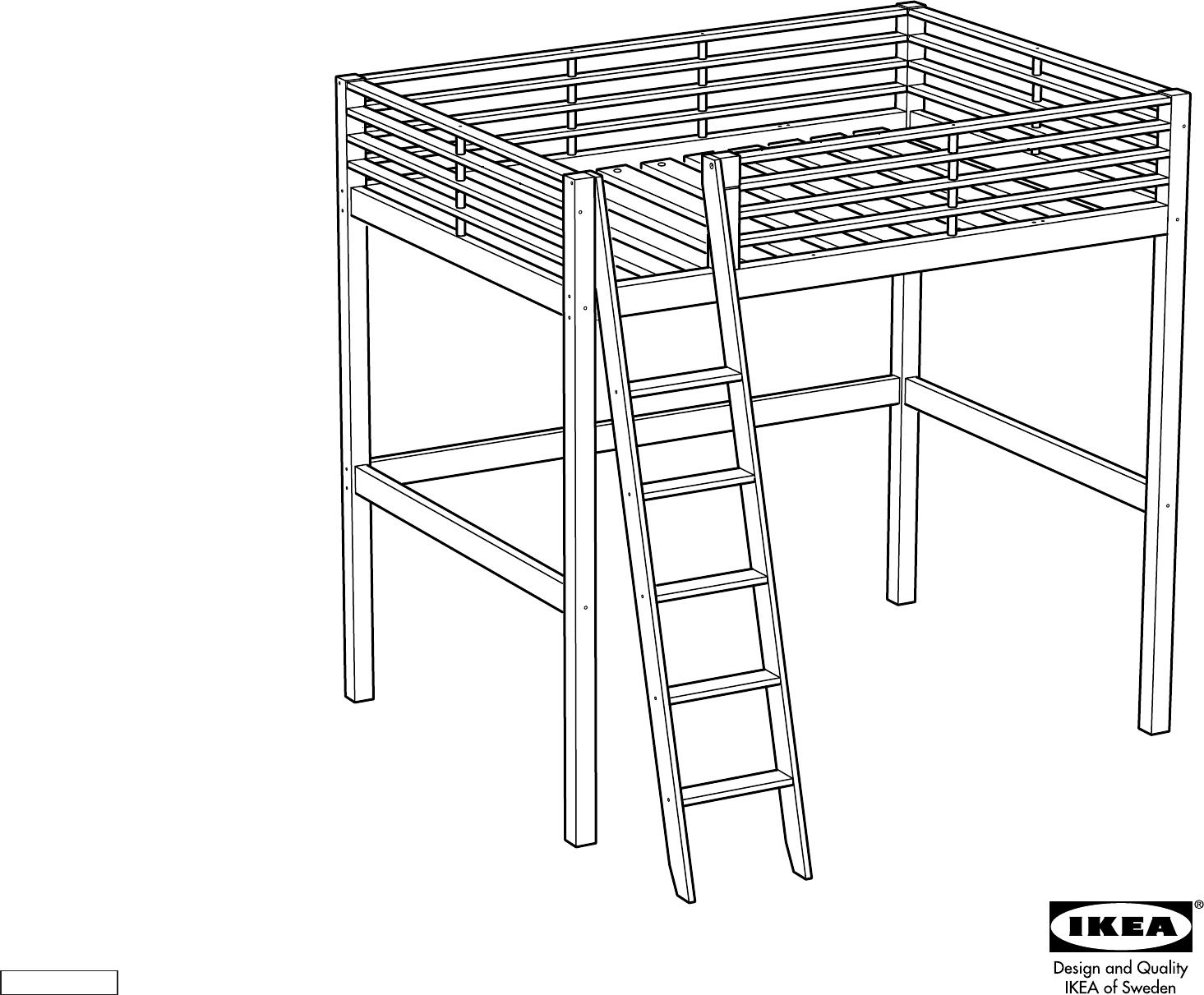 bedienungsanleitung ikea fjelldal hoogslaper seite 1 von 20 d nisch deutsch englisch. Black Bedroom Furniture Sets. Home Design Ideas