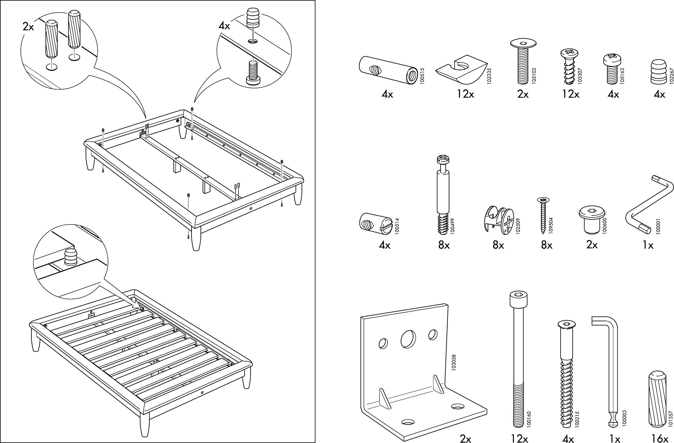 bedienungsanleitung ikea hamar accesoires seite 3 von 10 d nisch deutsch englisch spanisch. Black Bedroom Furniture Sets. Home Design Ideas