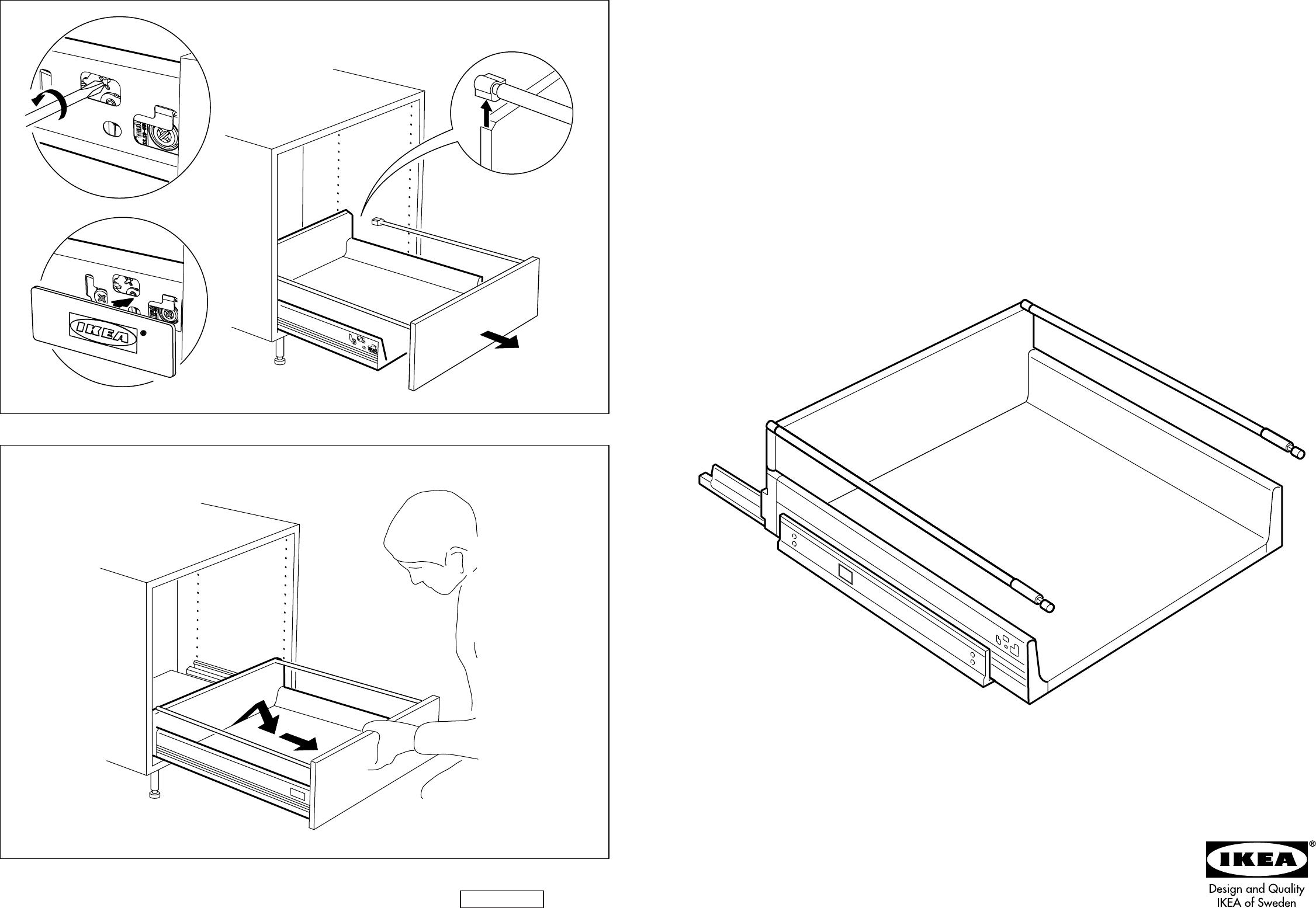 Bedienungsanleitung Ikea Rationell Accesoire Lade Seite 3 Von 4 Danisch Deutsch Englisch Spanisch Franzosisch Italienisch Hollandisch Norwegisch Polnisch Portugiesisch Finnisch Schwedisch