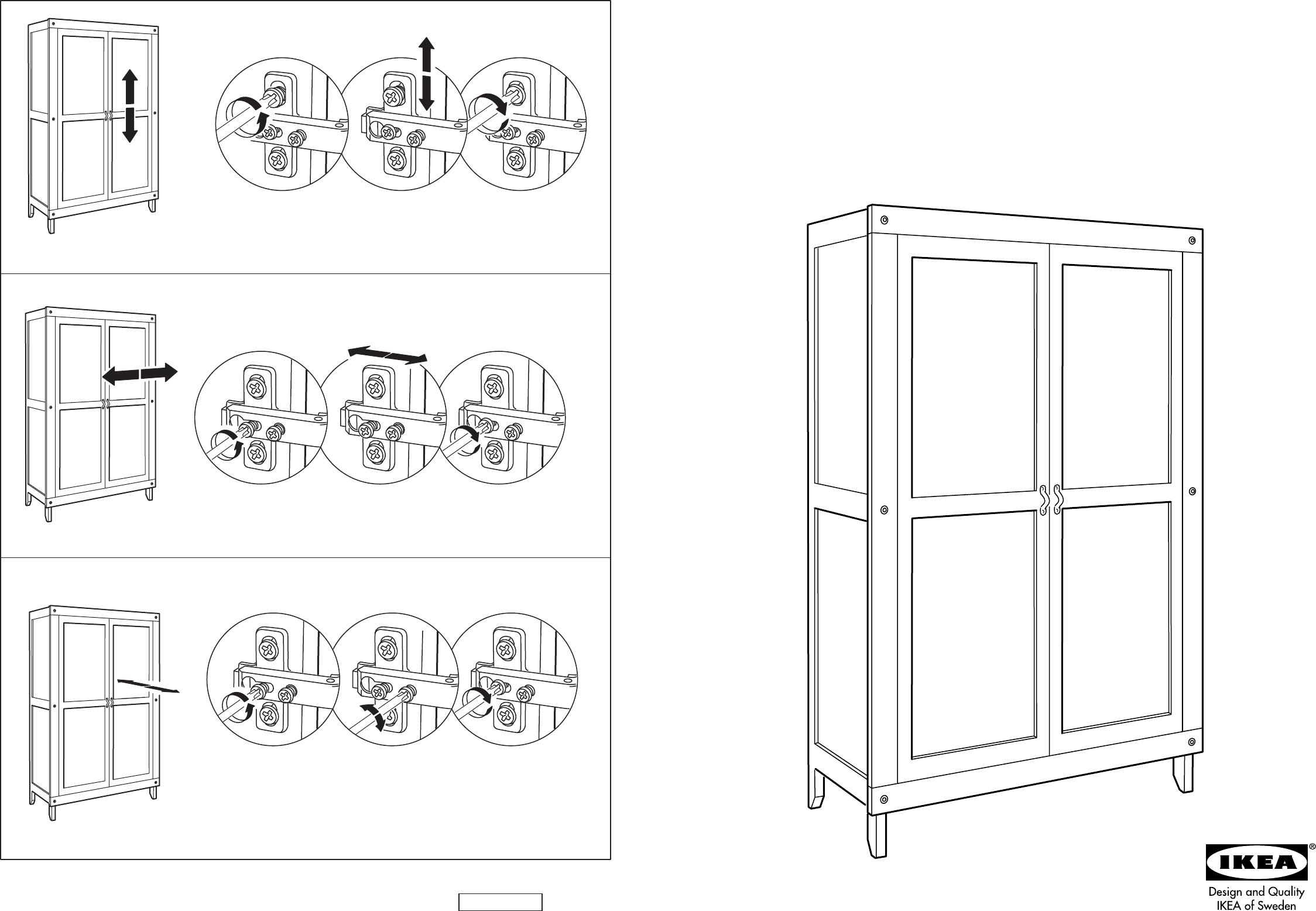 bedienungsanleitung ikea stranda garderobekast seite 1 von 10 d nisch deutsch englisch. Black Bedroom Furniture Sets. Home Design Ideas