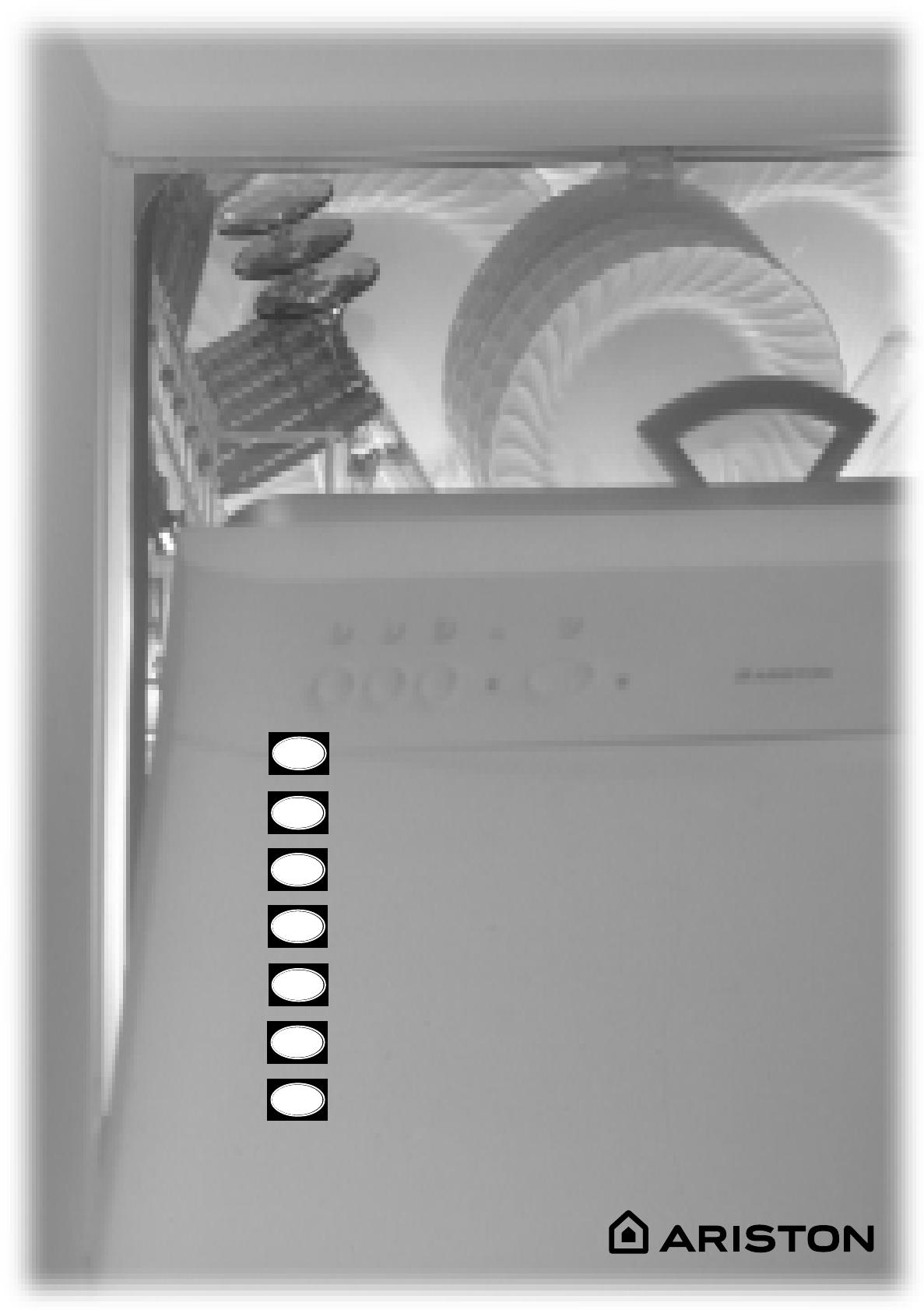 bedienungsanleitung hotpointariston ll 64 x eu (seite 1  ~ Geschirrspülmaschine Englisch