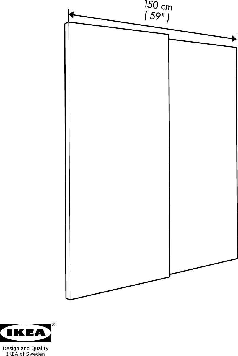 Bedienungsanleitung Ikea Pax Hasvik 150 Seite 2 Von 28 Danisch