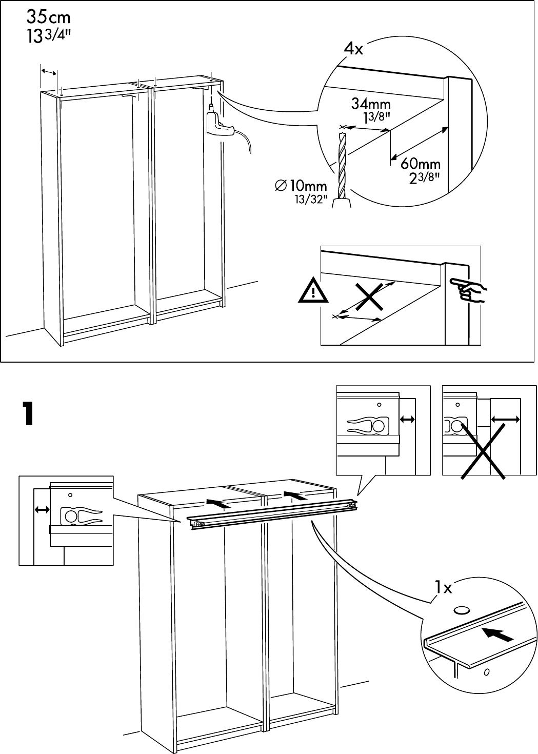 Ikea Pax Schrank Schiebetüren Einbauen