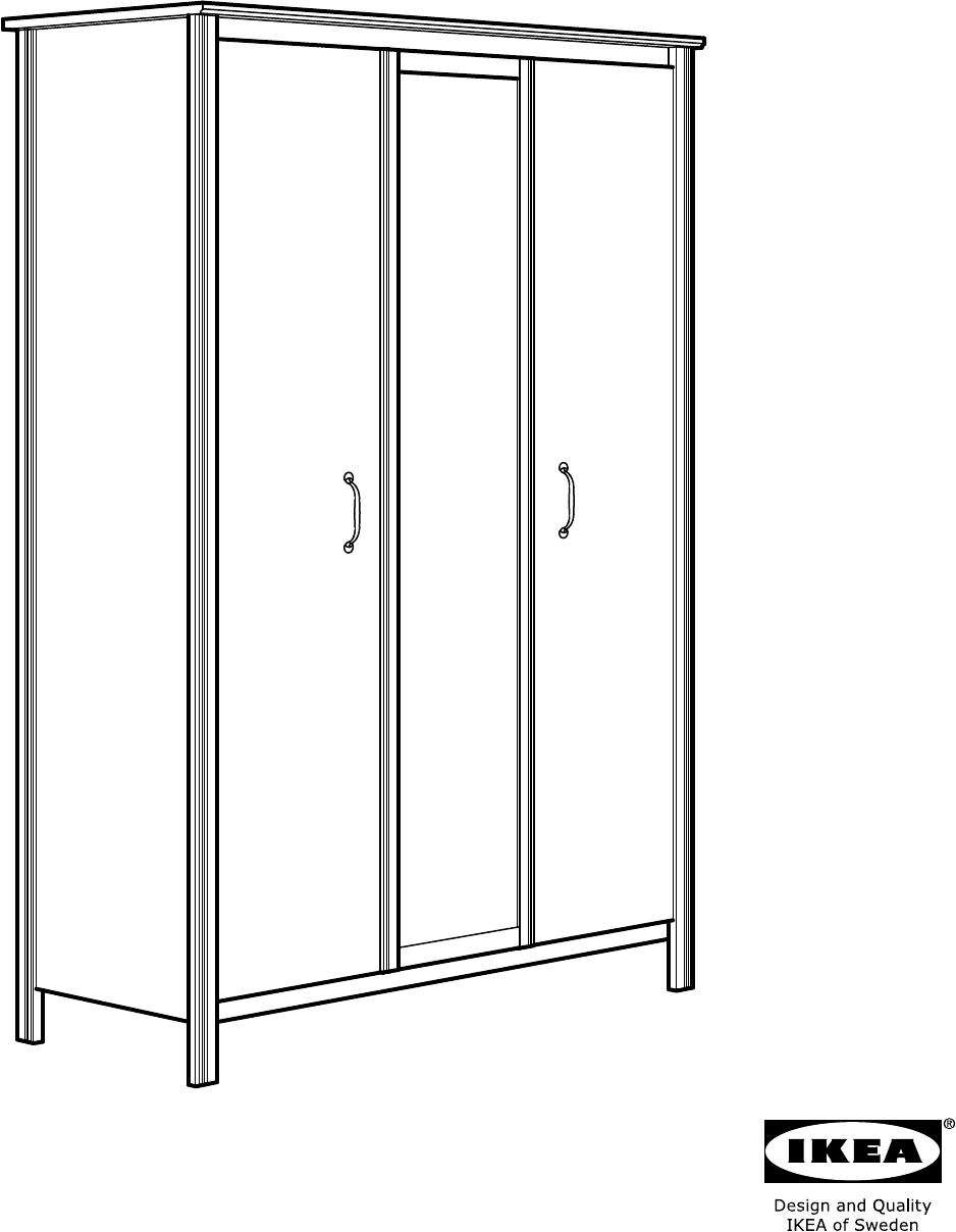 bedienungsanleitung ikea brusali seite 1 von 36 d nisch deutsch englisch spanisch. Black Bedroom Furniture Sets. Home Design Ideas