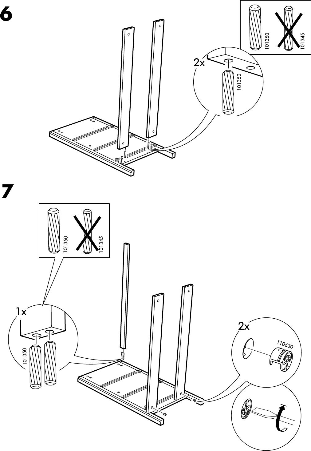bedienungsanleitung ikea koppang ladekast 3 lades seite 6 von 16 d nisch deutsch englisch. Black Bedroom Furniture Sets. Home Design Ideas