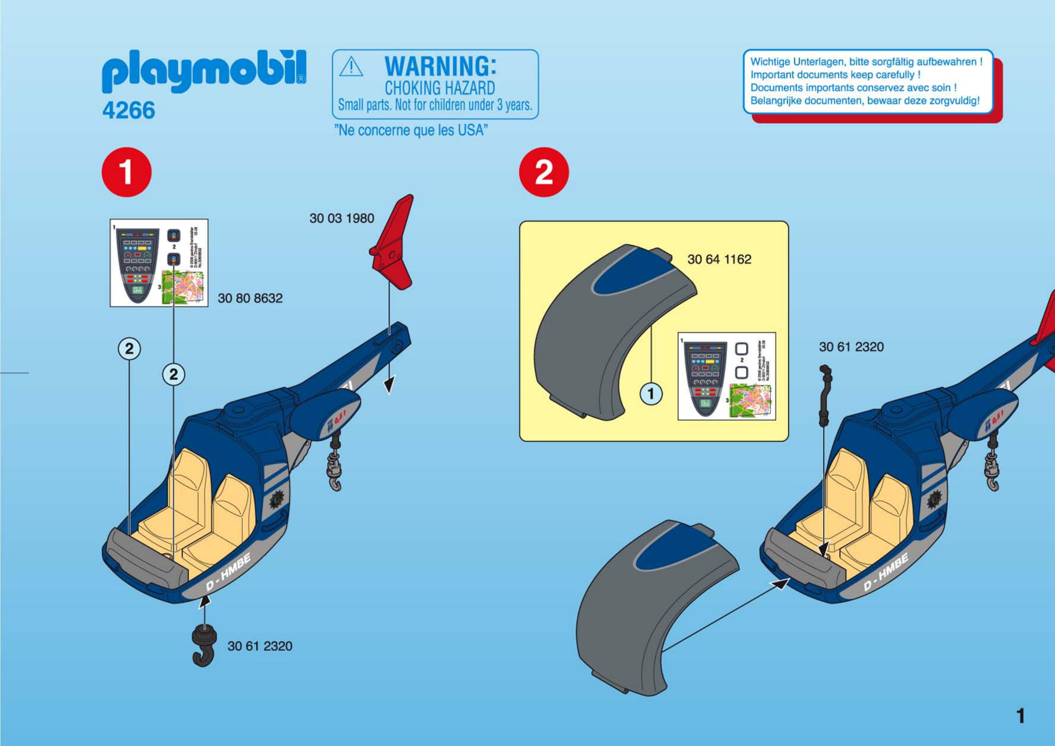 Bedienungsanleitung Playmobil 4266 (Seite 1 von 4) (Dänisch