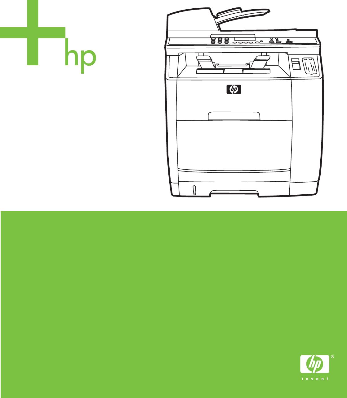 HP Color LaserJet 2820/2830/2840. User Guide. HP Color LaserJet 2820/2830/ 2840 ...