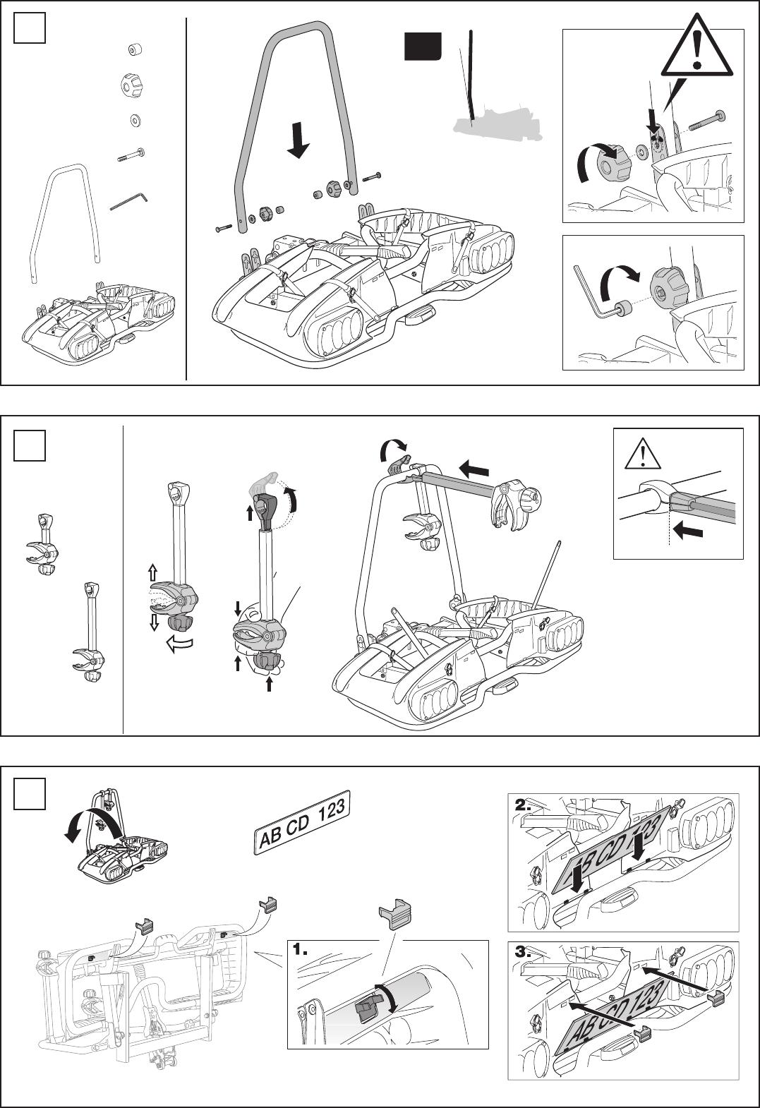 bedienungsanleitung thule europower 915 seite 3 von 16. Black Bedroom Furniture Sets. Home Design Ideas