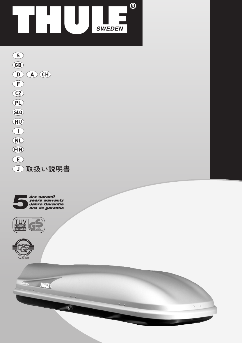 bedienungsanleitung thule evolution 500 seite 1 von 6. Black Bedroom Furniture Sets. Home Design Ideas