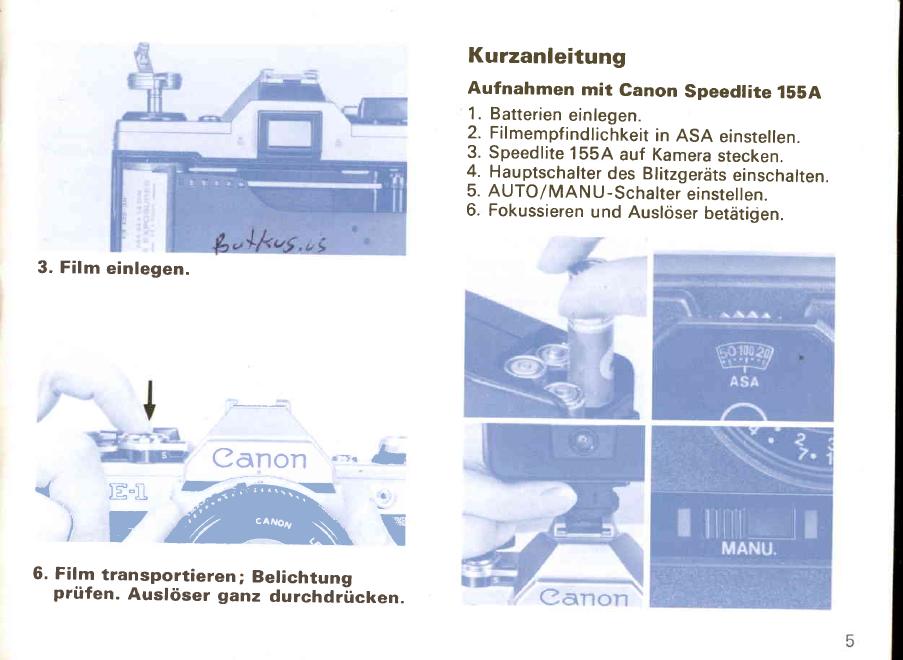 Canon A1 Bedienungsanleitung Deutsch Pdf