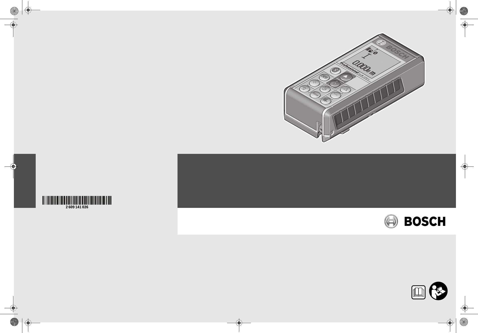 Bosch Entfernungsmesser Glm 100 C : Bedienungsanleitung bosch glm 100 c seite 9 von 367 dänisch