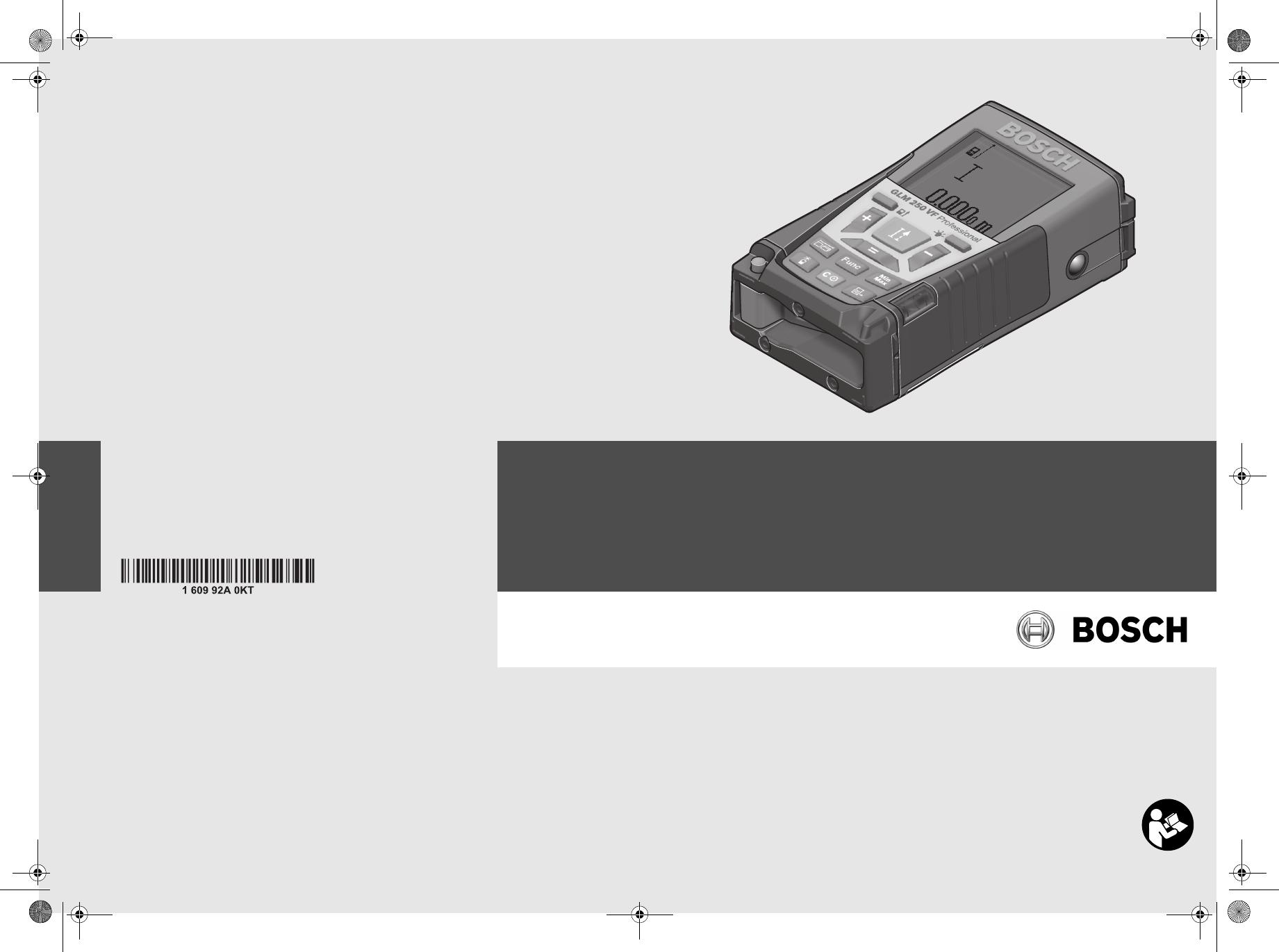 Laser Entfernungsmesser Bosch Glm 250 Vf : Bedienungsanleitung bosch glm vf seite von dänisch