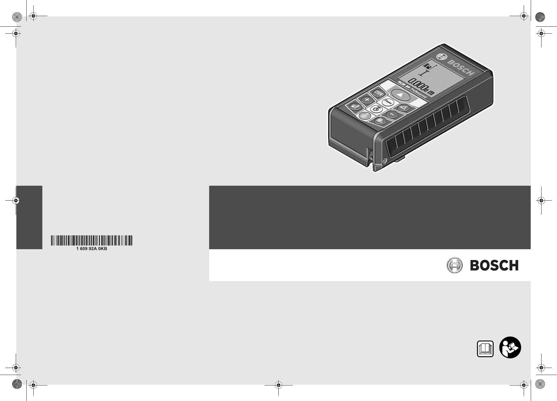 Bosch Entfernungsmesser Glm 80 : Bedienungsanleitung bosch glm 80 seite 16 von 319 dänisch