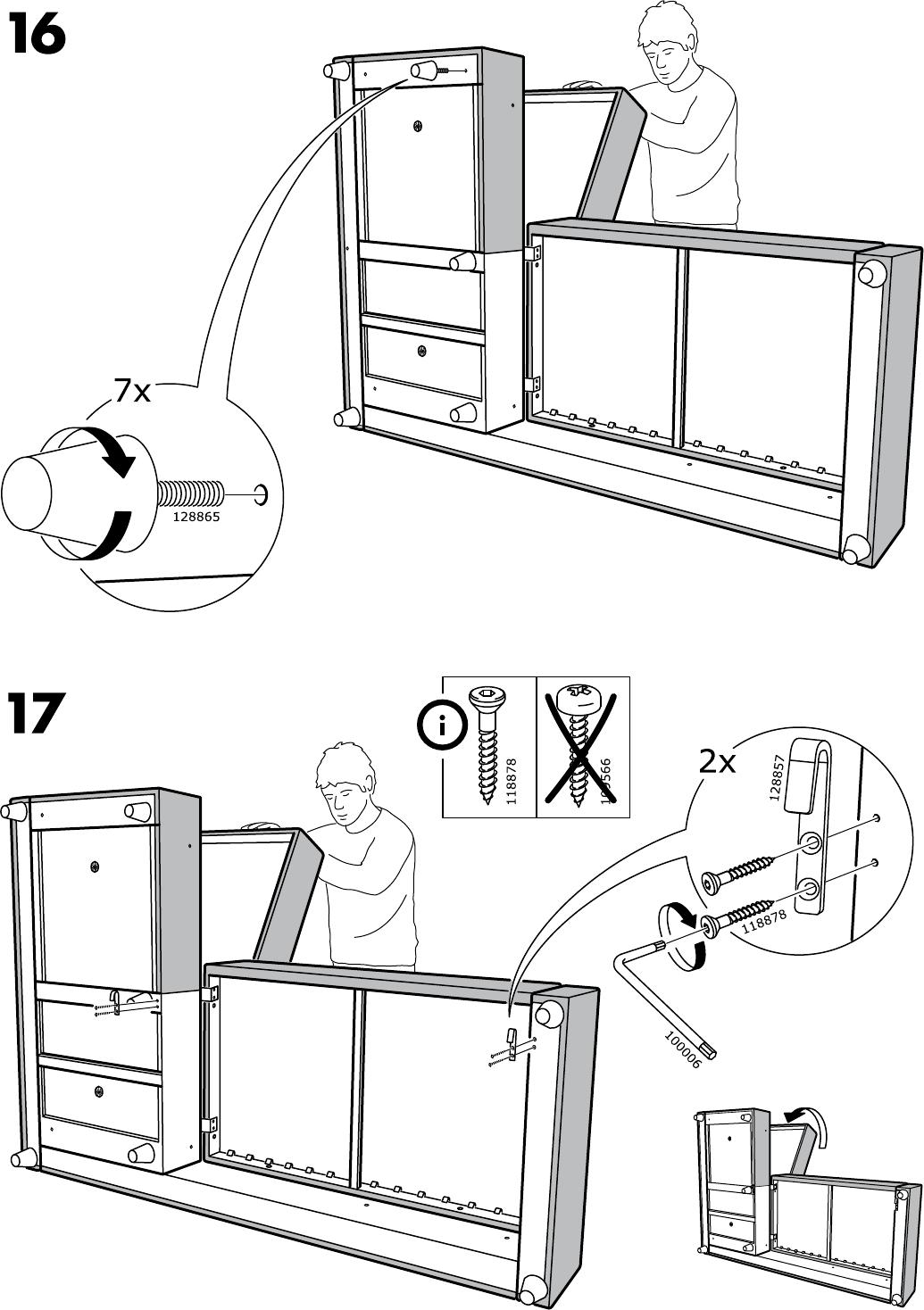 bedienungsanleitung ikea friheten seite 13 von 28 alle sprachen. Black Bedroom Furniture Sets. Home Design Ideas