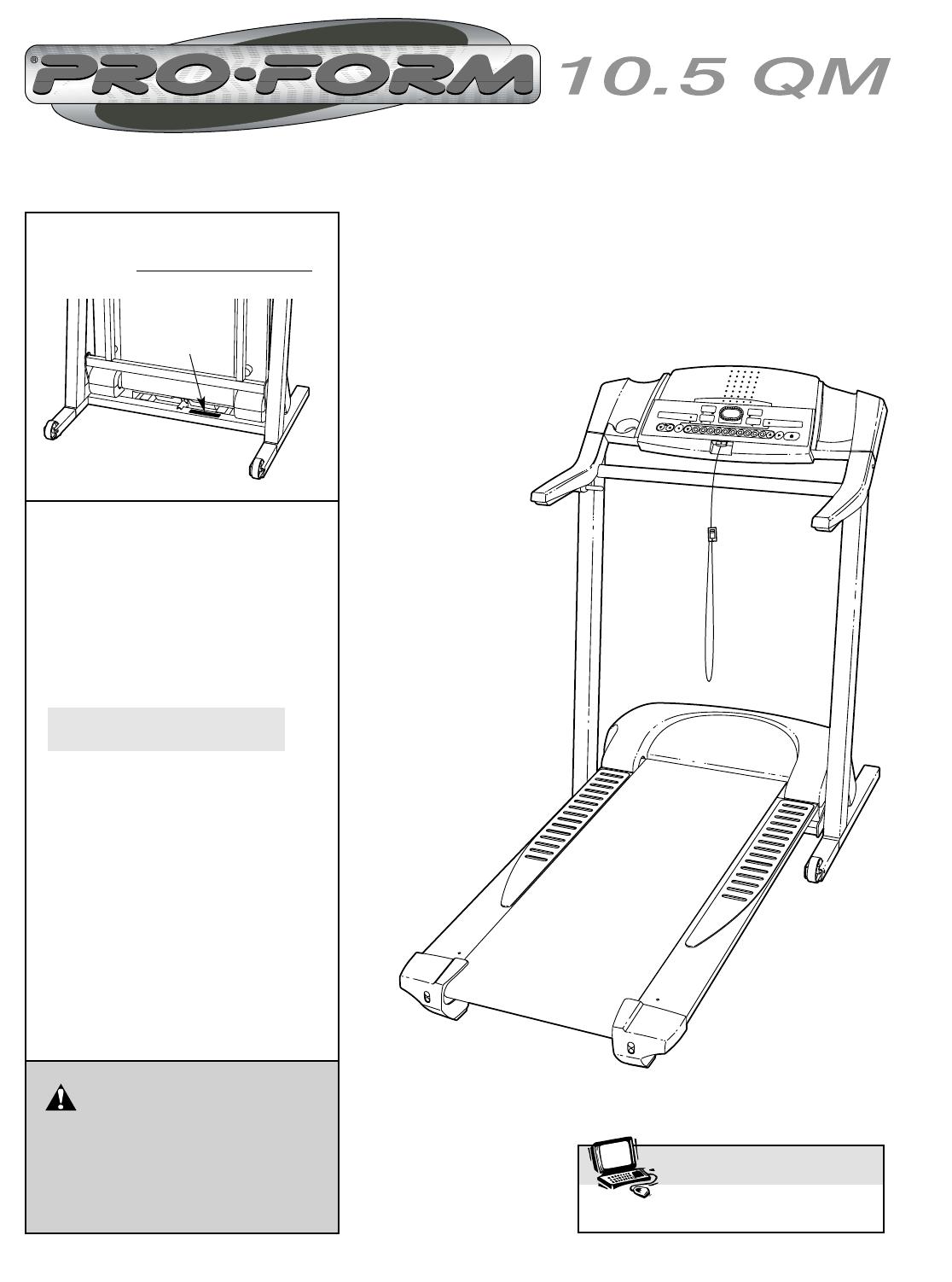 Bedienungsanleitung Pro Form 105 Qm Petl6102 Seite 1 Von 27 Proform Treadmill Wiring Diagram