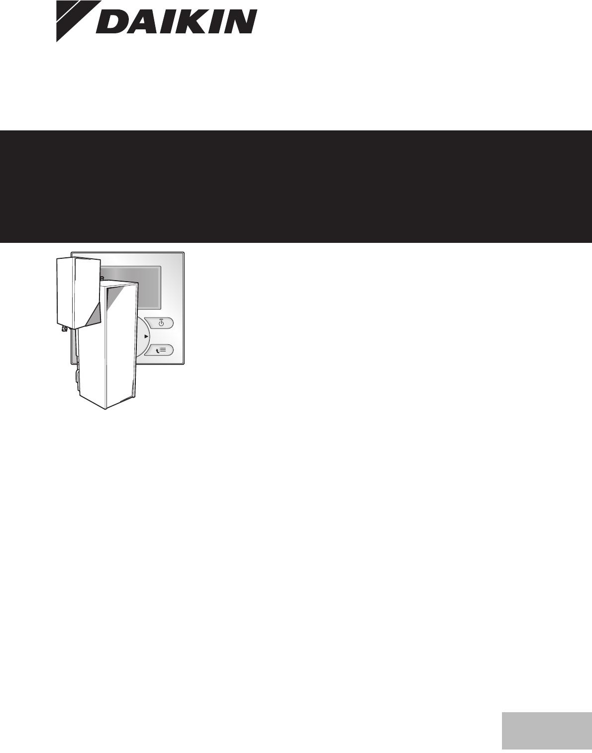 bedienungsanleitung daikin ehbh16ca seite 1 von 24. Black Bedroom Furniture Sets. Home Design Ideas