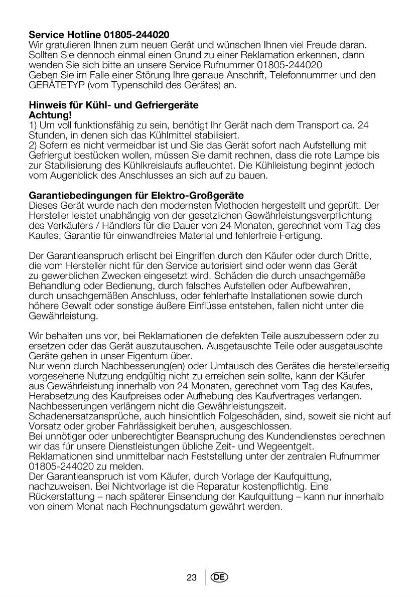 Bedienungsanleitung Beko Eb 9741 Xhl Seite 26 Von 26 Deutsch