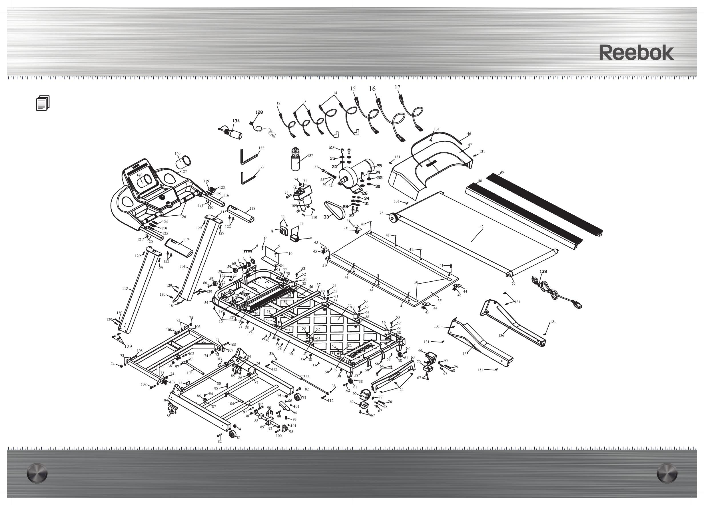 Bedienungsanleitung Reebok TT3.0 Treadmill TITANIUM (Seite 1
