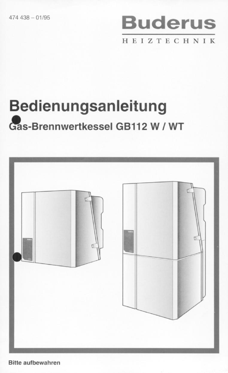 bedienungsanleitung buderus gb112 w seite 1 von 5 deutsch. Black Bedroom Furniture Sets. Home Design Ideas
