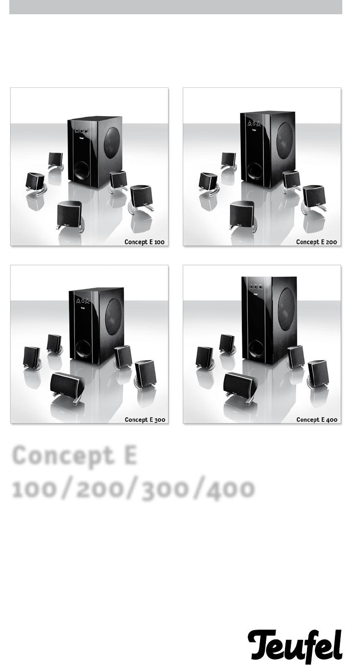 bedienungsanleitung teufel concept e 400 seite 1 von 20. Black Bedroom Furniture Sets. Home Design Ideas