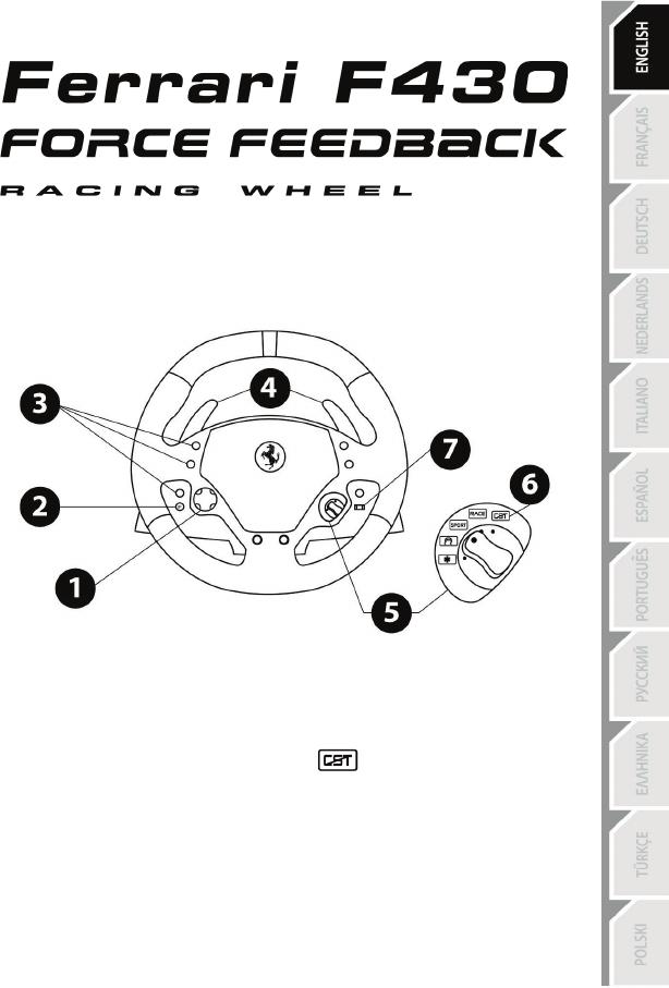 Bedienungsanleitung Thrustmaster Ferrari F430 Force Feedbak