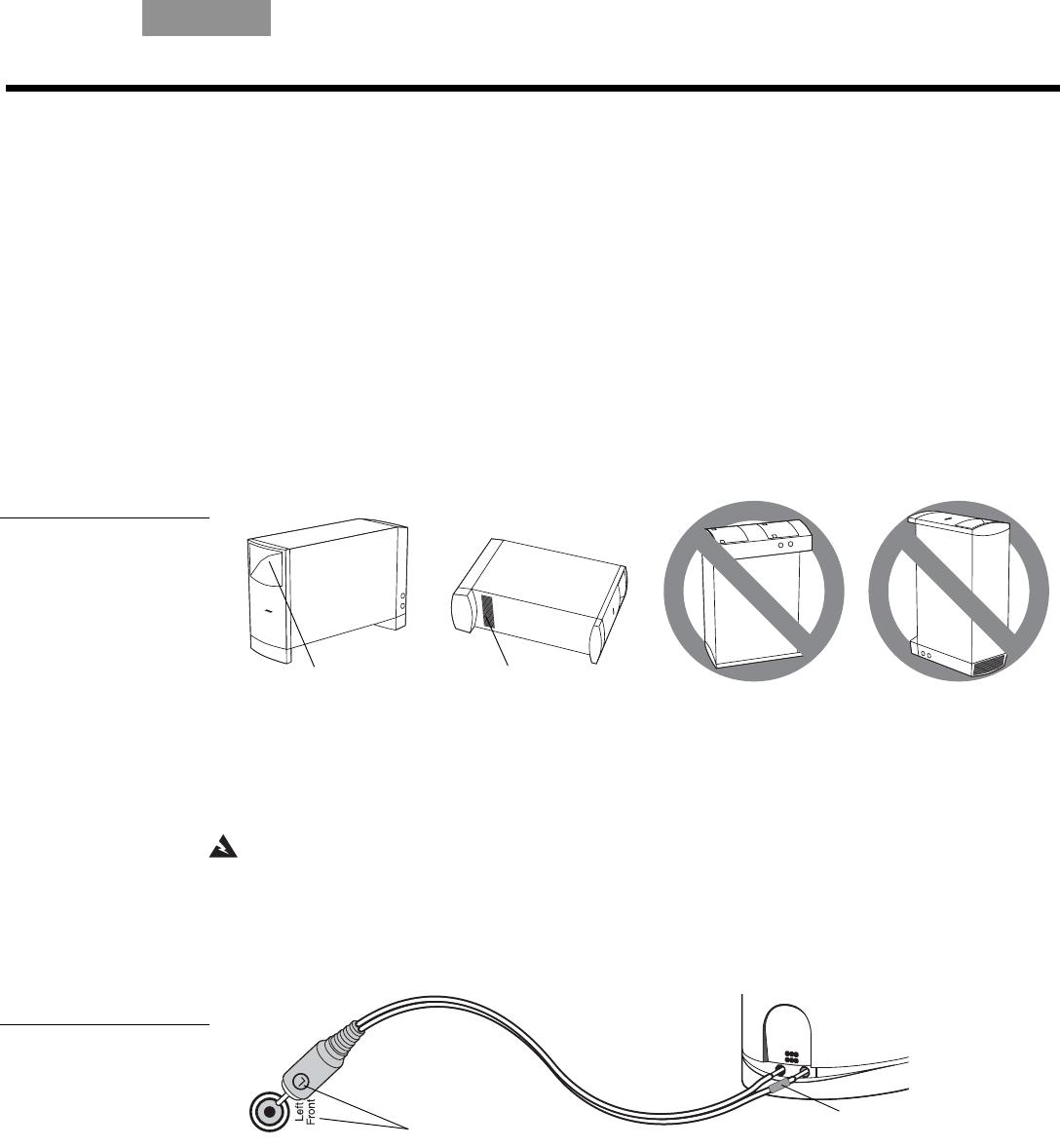 Bedienungsanleitung Bose Acoustimass 16 II (Seite 7 von 16) (Deutsch)