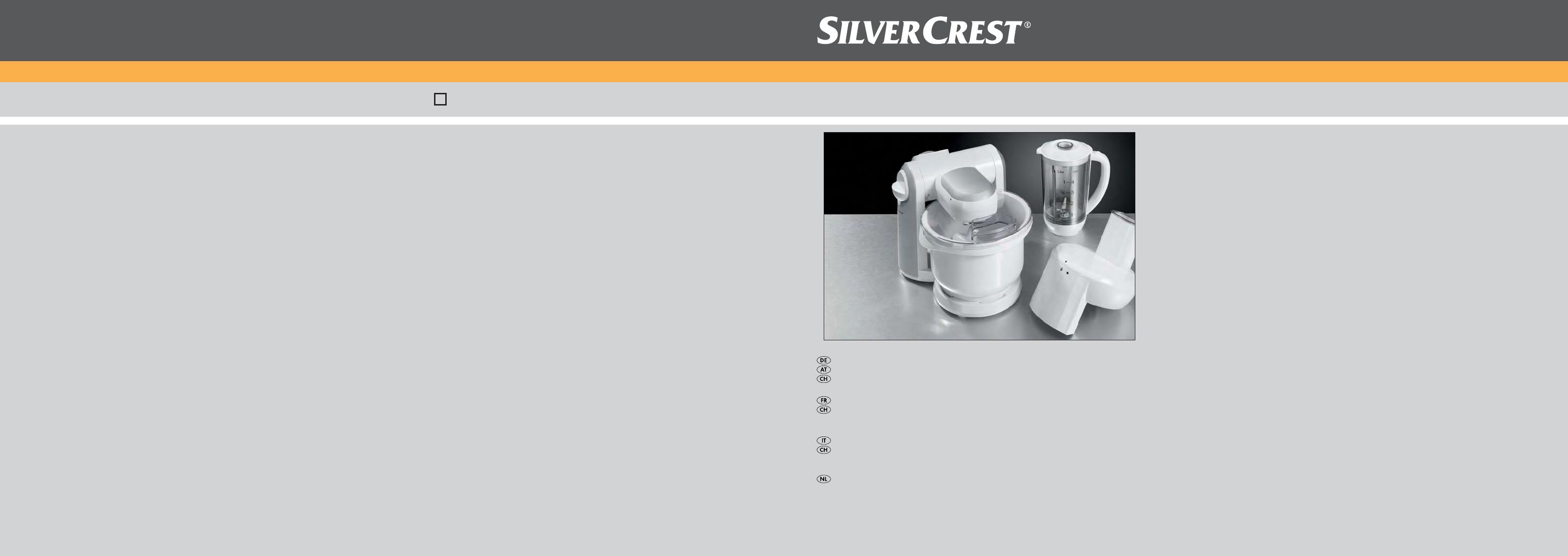 Bedienungsanleitung Silvercrest SKM 550 A1 - IAN 63913 (Seite 1 von ...